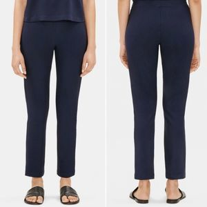 Eileen Fisher Signature Blue Stretch Crepe Pants